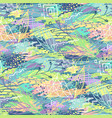abstract doodle pattern vector image vector image