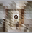 abstract geometric background of brown triangles vector image vector image