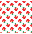 abstract seamless white strawberry background vector image