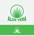 aloe vera logo transparent leaves circle vector image