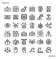android robot outline icons perfect pixel vector image