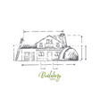 architect profession attributes cottage plan vector image