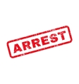 Arrest Text Rubber Stamp