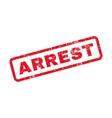 arrest text rubber stamp
