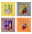 assembly flat shading style icon emblem of Ukraine vector image vector image