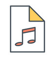 audio file thin line icon pictogram vector image
