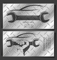 auto repair and service business card vector image vector image