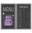 bakery menu vintage style