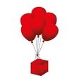 balloon red box vector image