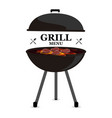baner barbecue on grill grill menu vector image vector image