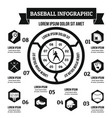 baseball infographic concept simple style vector image vector image