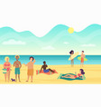 beach summer people performing leisure and vector image