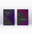 black cover design template set violet abstract l vector image