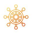 boat steering wheel nautical adventure travel icon vector image