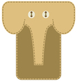 Case for mobile phone elephant vector image vector image