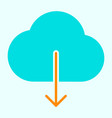 cloud download icon simple minimal pictogram vector image vector image