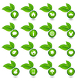 collection of ecological icons vector image vector image