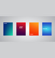 colorful halftone gradients colorful cover vector image vector image