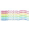 colorful pushpin pin flag and thumbtack color vector image