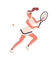 colorful sportswoman big tennis player demonstrate vector image vector image