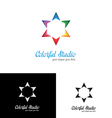 Colorful studio logo template vector image vector image