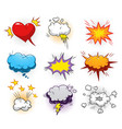 comic dynamic elements set vector image