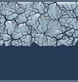 cracked ice background vector image vector image