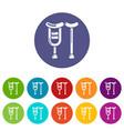 crutch icon simple style vector image vector image