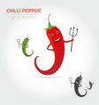cute cartoon hot chili pepper vector image