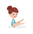 cute little girl performing gymnastic exercise vector image