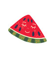 cute piece ripe watermelon with smiling face vector image