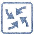 cyclone arrows fabric textured icon vector image vector image