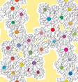 daisy bouquet pattern vector image