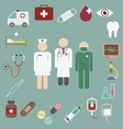 doctor and nurse team with medical and healthcare vector image vector image