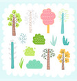 doodles cute elements vector image vector image