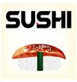 eel sushi vector image vector image