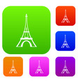 eiffel tower set collection vector image vector image