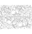 Electronics line art design vector image vector image