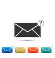 envelope with question mark icon isolated vector image vector image