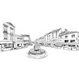 epernay france hand drawn sketch vector image