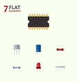 flat icon electronics set of resist memory vector image vector image