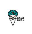 game guru logo vector image vector image