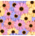Gerbera Seamless Pattern Floral Background vector image vector image