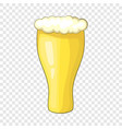 glass beer icon cartoon style vector image vector image