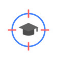 goal and graduated cap education and e learning vector image