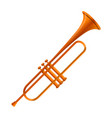 gold trumpet icon cartoon style vector image