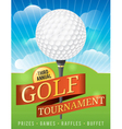 Golf Tournament Invitation Design vector image vector image
