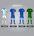 group d team jersey vector image vector image