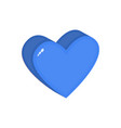 heart isometric flat icon in blue love symbol like vector image vector image