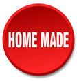 home made red round flat isolated push button vector image vector image